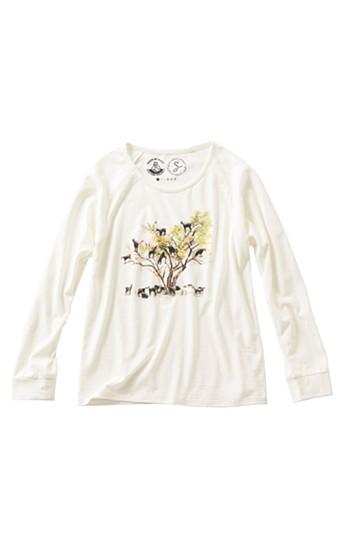 haco! PEACE BY PEACE コットンプロジェクト×GREENDRESS そらみみ植物園Tシャツ <ホワイト>の商品写真