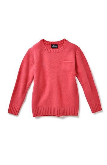 &sloe カラーがかわいいウール100%のベーシックニット <レッド>の商品写真