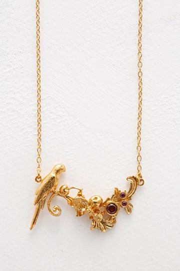 haco! てとひとて Alex Monroe Baroque Parrot & Fruit Necklace GD <ゴールド>の商品写真