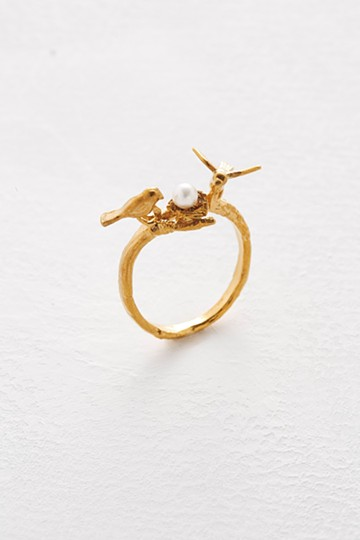 haco! てとひとて Alex Monroe Birds & Nest Ring <ゴールド>の商品写真