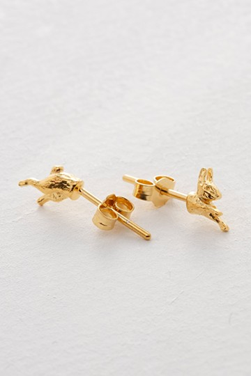 haco! てとひとて Alex Monroe Top & Tails Bunny Stud Earrings GD <ゴールド>の商品写真