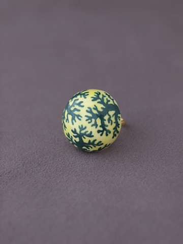 haco! てとひとて arie:chroma 珊瑚リング 黄色×緑 <イエロー×グリーン>の商品写真