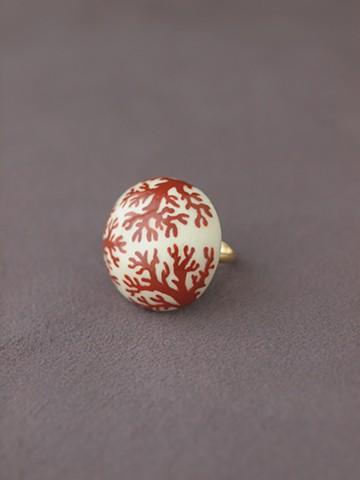 haco! てとひとて arie:chroma 珊瑚リング 赤×白 <レッド×ホワイト>の商品写真