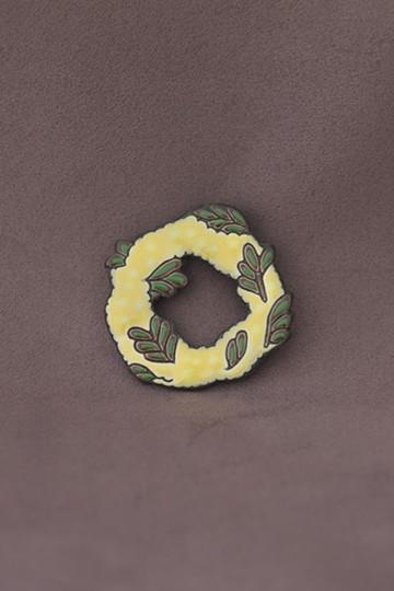 haco! てとひとて arie:chroma×てとひとて 花冠ブローチ ミモザ <イエロー>の商品写真