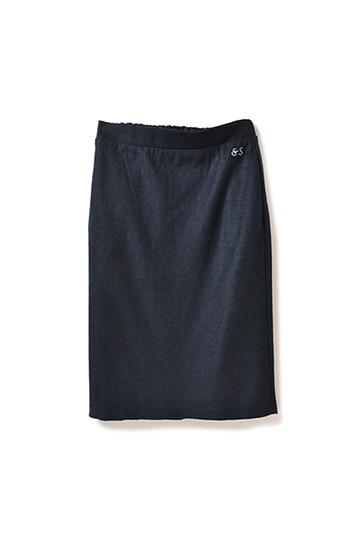 &sloe ウール混素材のしっかりタイトスカート <ネイビー>の商品写真