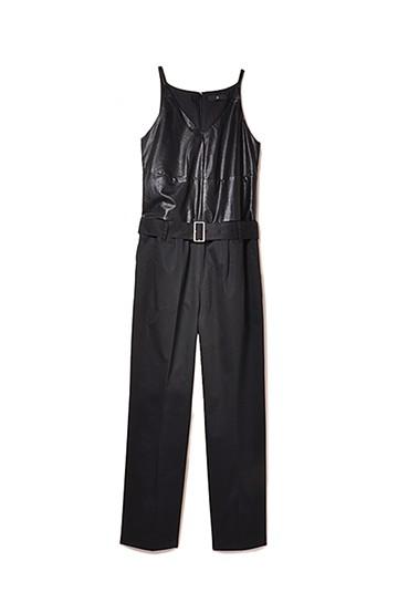 .fr Vカットの異素材ワン・スーツ <ブラック>の商品写真