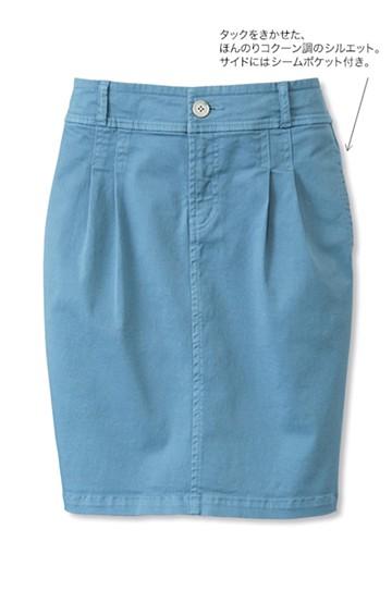 nusy カジュアルストレッチスカート <グレイッシュブルー>の商品写真