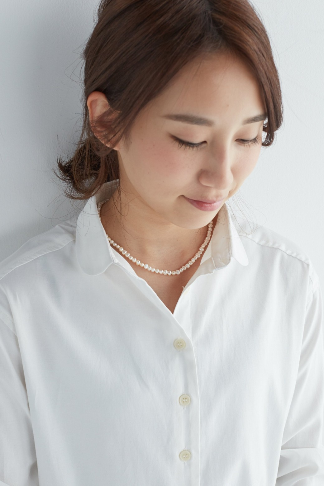 haco! 気分の上がる淡水パールのネックレス by que made me <ホワイト>の商品写真6