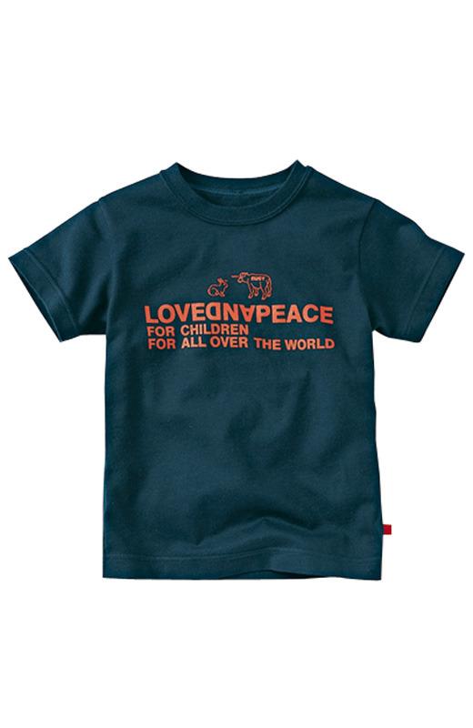 nusy LOVE&PEACE メッセージTシャツ <ネイビー>の商品写真1