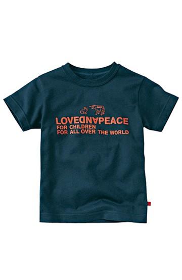nusy LOVE&PEACE メッセージTシャツ <ネイビー>の商品写真