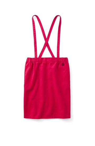 &sloe サスペンダー付きコーデュロイタイトスカート <レッド>の商品写真