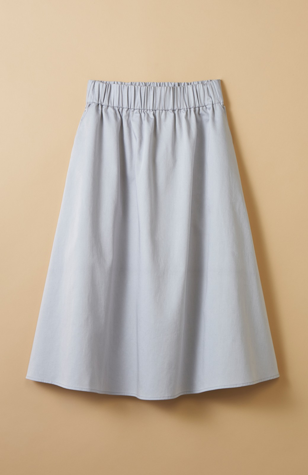 haco! ミモレ丈のフレアースカート by que made me <ライトグレー>の商品写真1