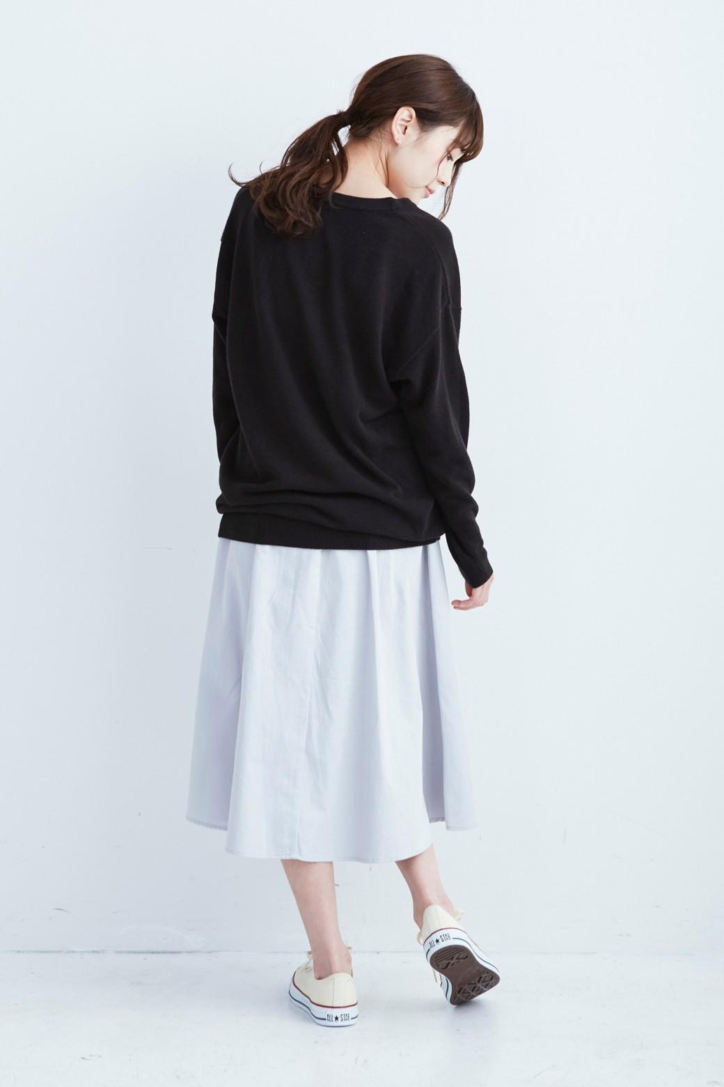 haco! ミモレ丈のフレアースカート by que made me <ライトグレー>の商品写真8