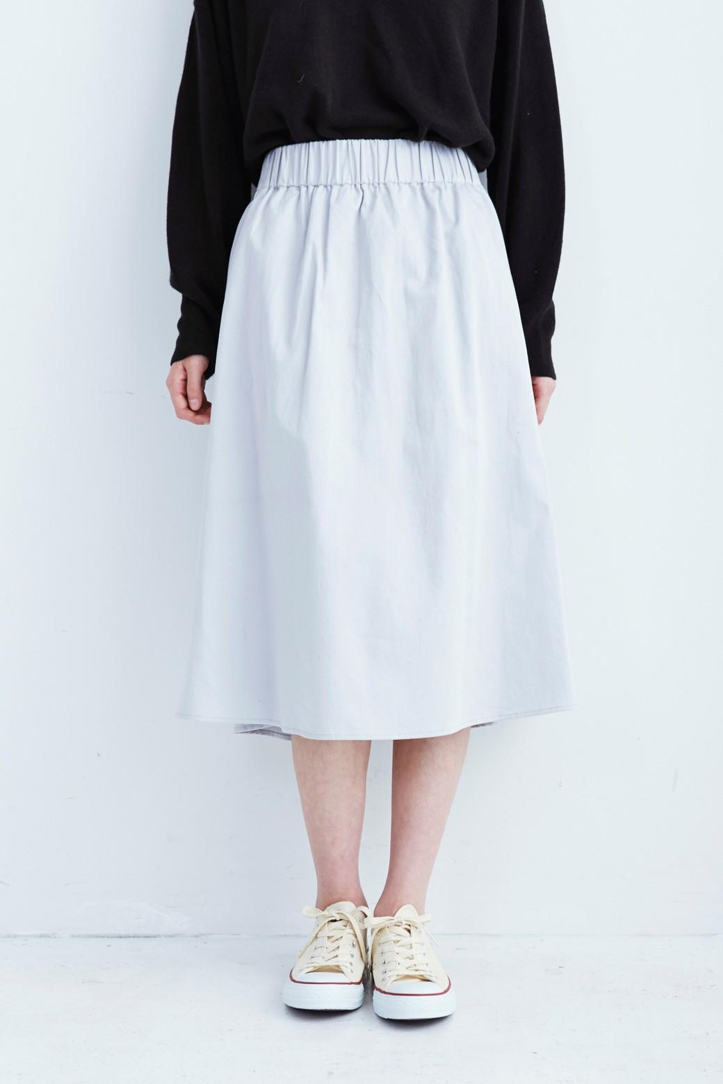 haco! ミモレ丈のフレアースカート by que made me <ライトグレー>の商品写真9