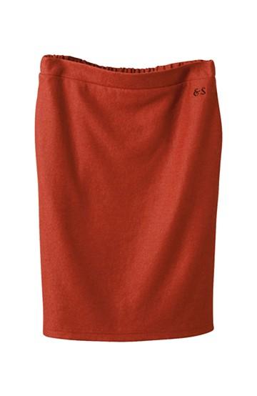 &sloe ウール混素材のしっかりタイトスカート <レッド>の商品写真