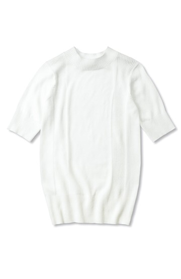 nusy 首つまりシンプルニット <ホワイト>の商品写真