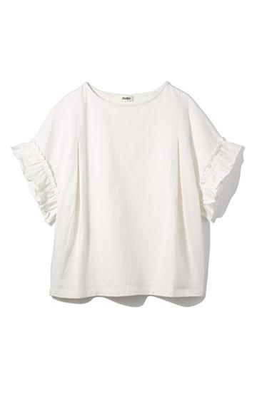 nusy PBP オーガニックコットンフリルTシャツ <ホワイト>の商品写真