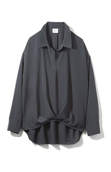 エムトロワ いいオンナのシルエット上手なシャツ <チャコールグレー>の商品写真