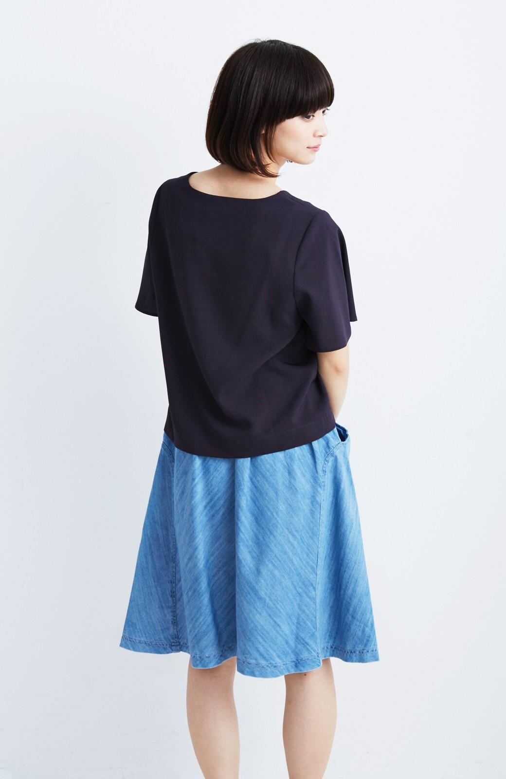 nusy フレアーがキュートなデニムスカート <ライトブルー>の商品写真6