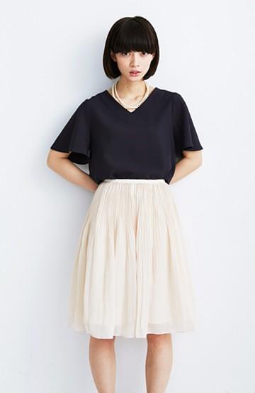 エムトロワ ミルフィーユみたいな繊細プリーツスカート <ホワイト系その他>の商品写真