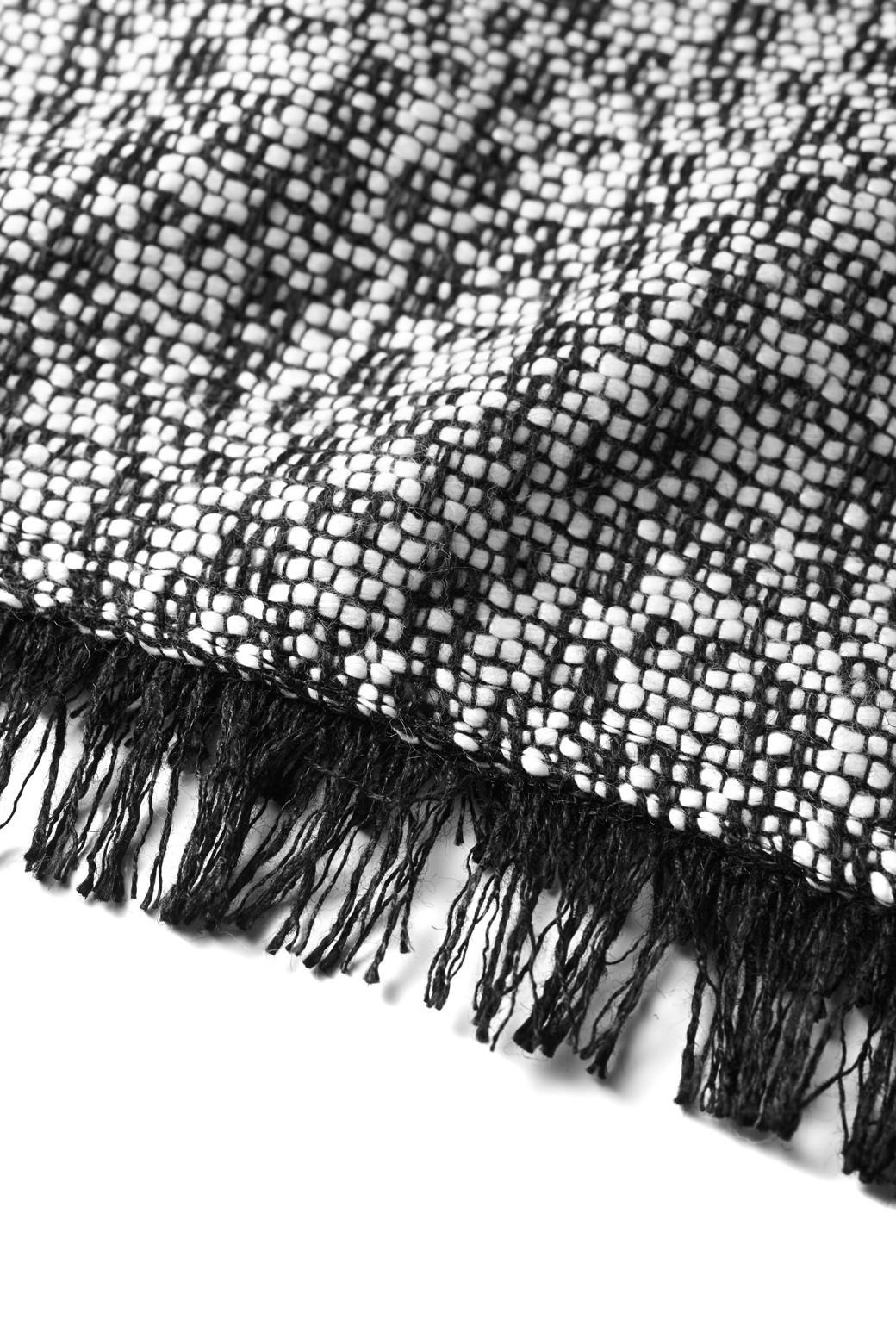 エムトロワ ツイードプルオーバートップス <ブラック×ホワイト>の商品写真2