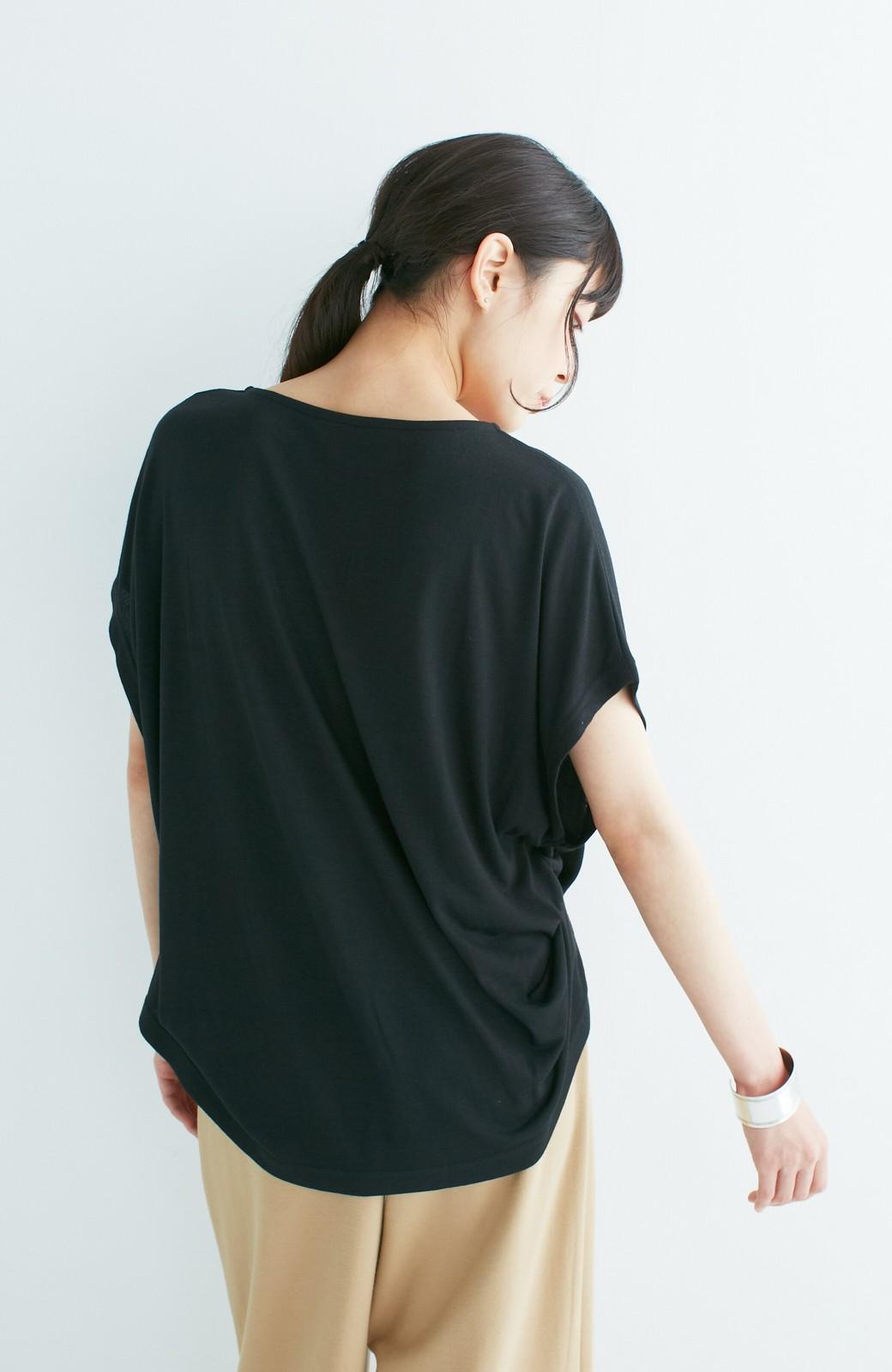 haco! 旅の救世主!3泊4日のキャミオールインワン&ゆったりTシャツセット <ブラック>の商品写真18