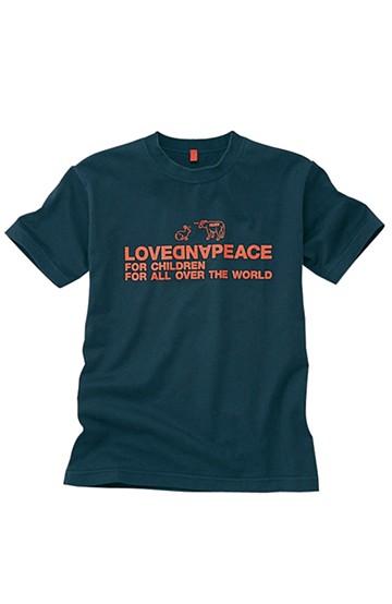 nusy ラブ&ピースメッセージTシャツ <ネイビー>の商品写真
