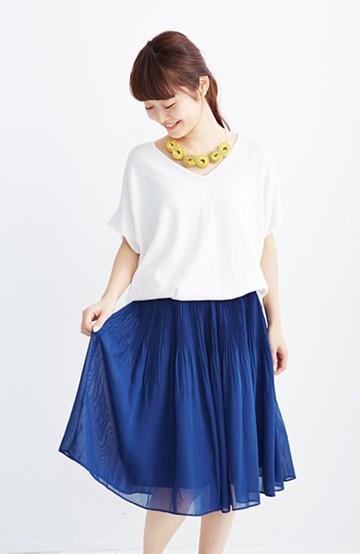 エムトロワ ミルフィーユみたいな繊細プリーツスカート <ネイビー>の商品写真