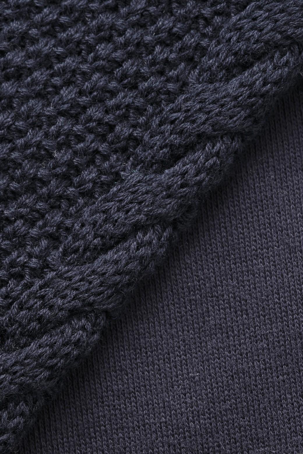 nusy ケーブルニット袖のスウェットワンピース <ネイビー>の商品写真3