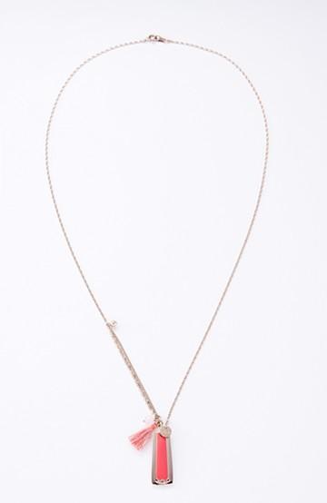 haco! てとひとて×i.de.m Sautoir grigri dore champagne corail ネックレス <コーラル×ピンククォーツ>の商品写真