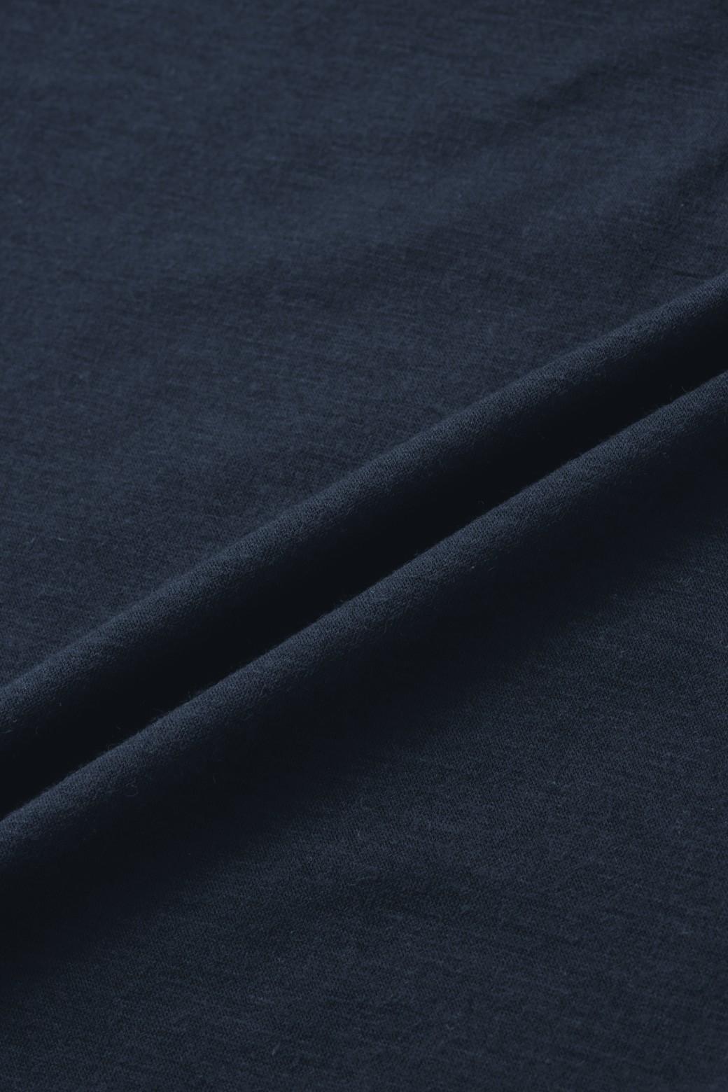 nusy とろみ素材のきれいめジョグパンツ <ネイビー>の商品写真2