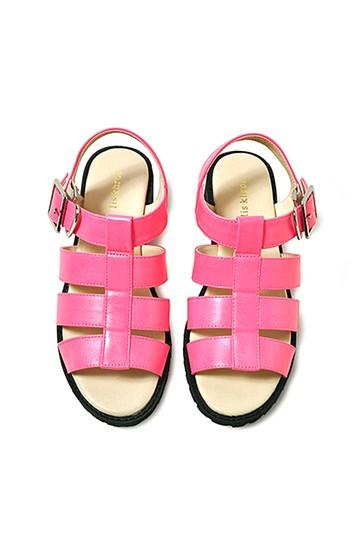 リス クロース ボリュームストラップサンダル <ピンク>の商品写真