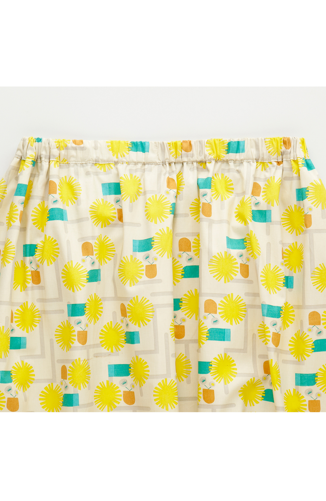 haco! ユニカラート 漆嶌知子 たんぽぽ スカート <イエロー>の商品写真3