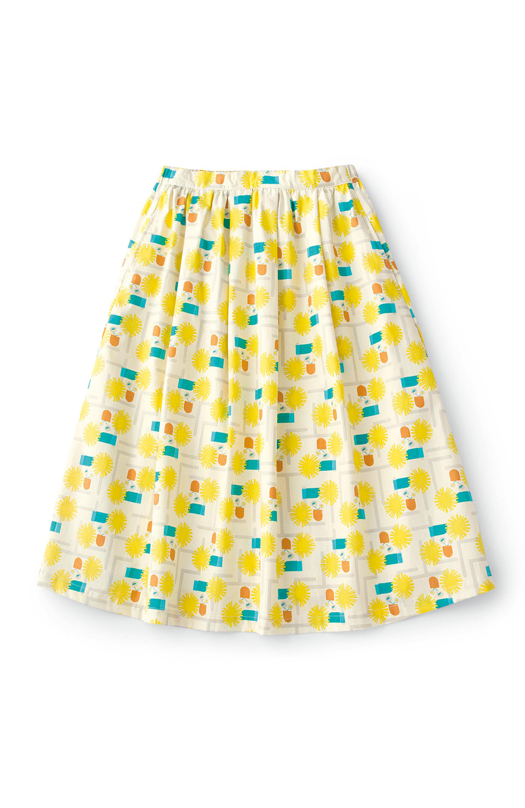 haco! ユニカラート 漆嶌知子 たんぽぽ スカート <イエロー>の商品写真1