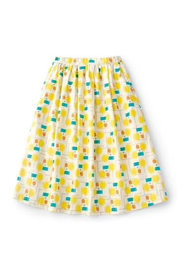 haco! ユニカラート 漆嶌知子 たんぽぽ スカート <イエロー>の商品写真