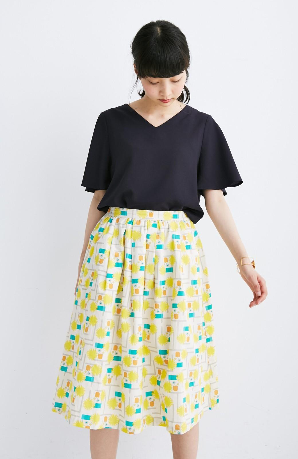 haco! ユニカラート 漆嶌知子 たんぽぽ スカート <イエロー>の商品写真6