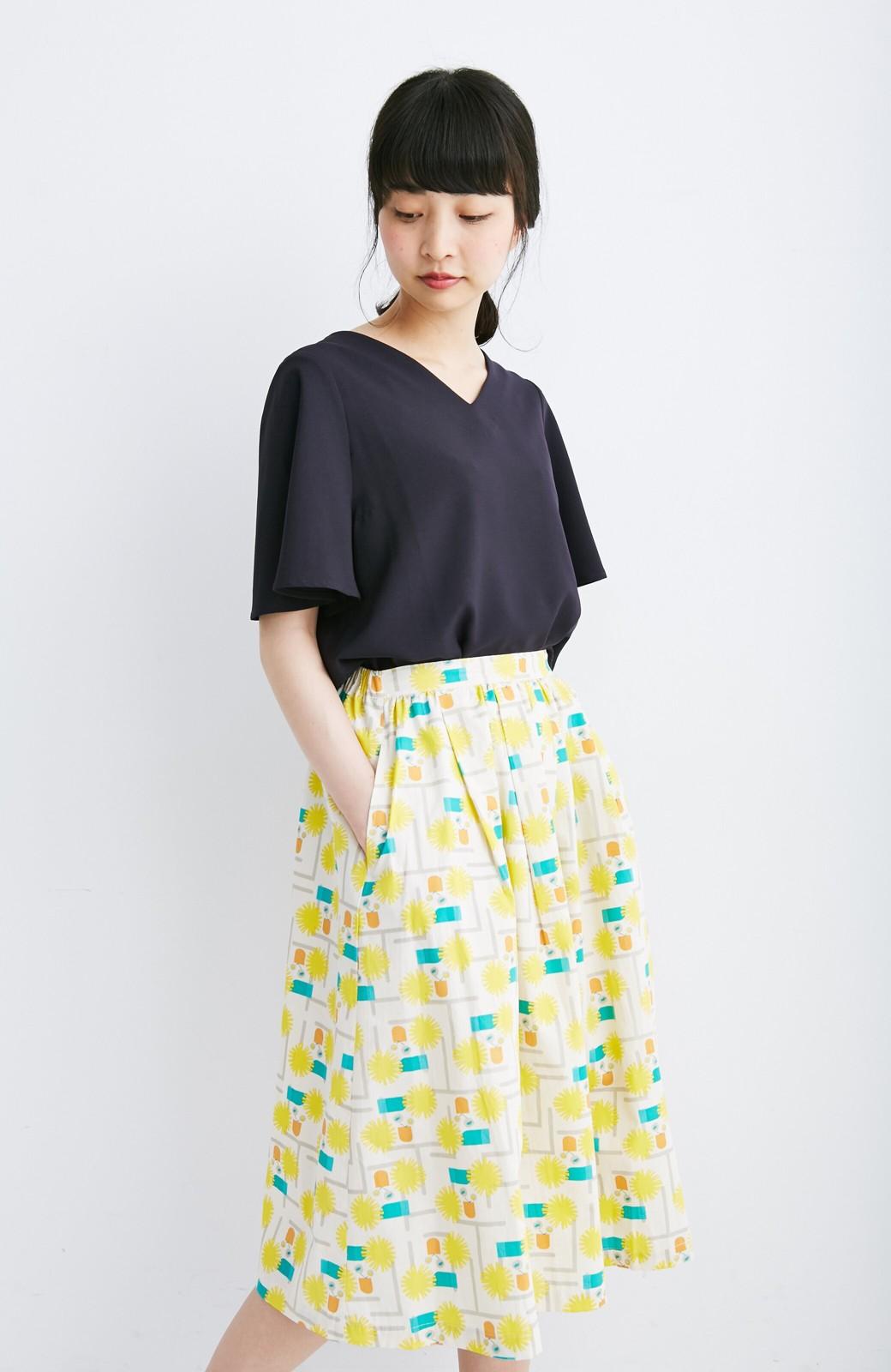 haco! ユニカラート 漆嶌知子 たんぽぽ スカート <イエロー>の商品写真7