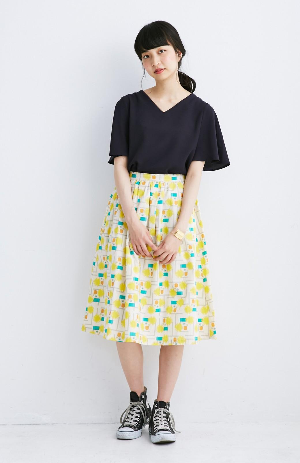 haco! ユニカラート 漆嶌知子 たんぽぽ スカート <イエロー>の商品写真5