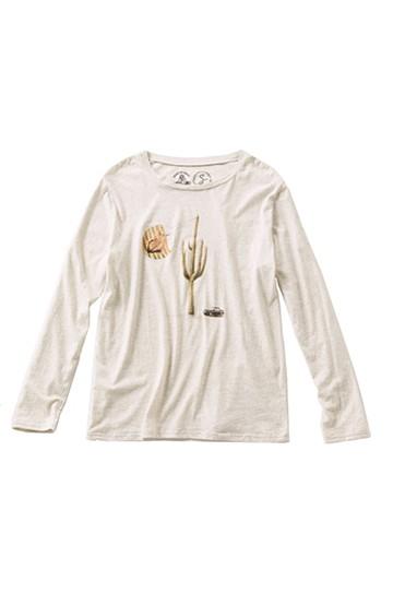 haco! PEACE BY PEACE コットンプロジェクト×GREENDRESS そらみみ植物園Tシャツ <ベージュ>の商品写真