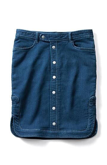 エムトロワ きれいでらくちんニットライクデニムスカート <インディゴブルー>の商品写真