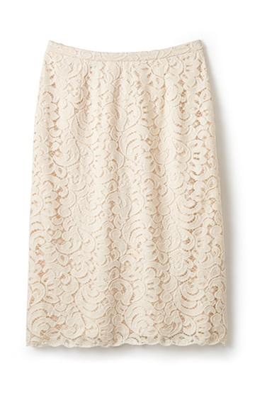 エムトロワ オトナレースのタイトスカート <アイボリー>の商品写真