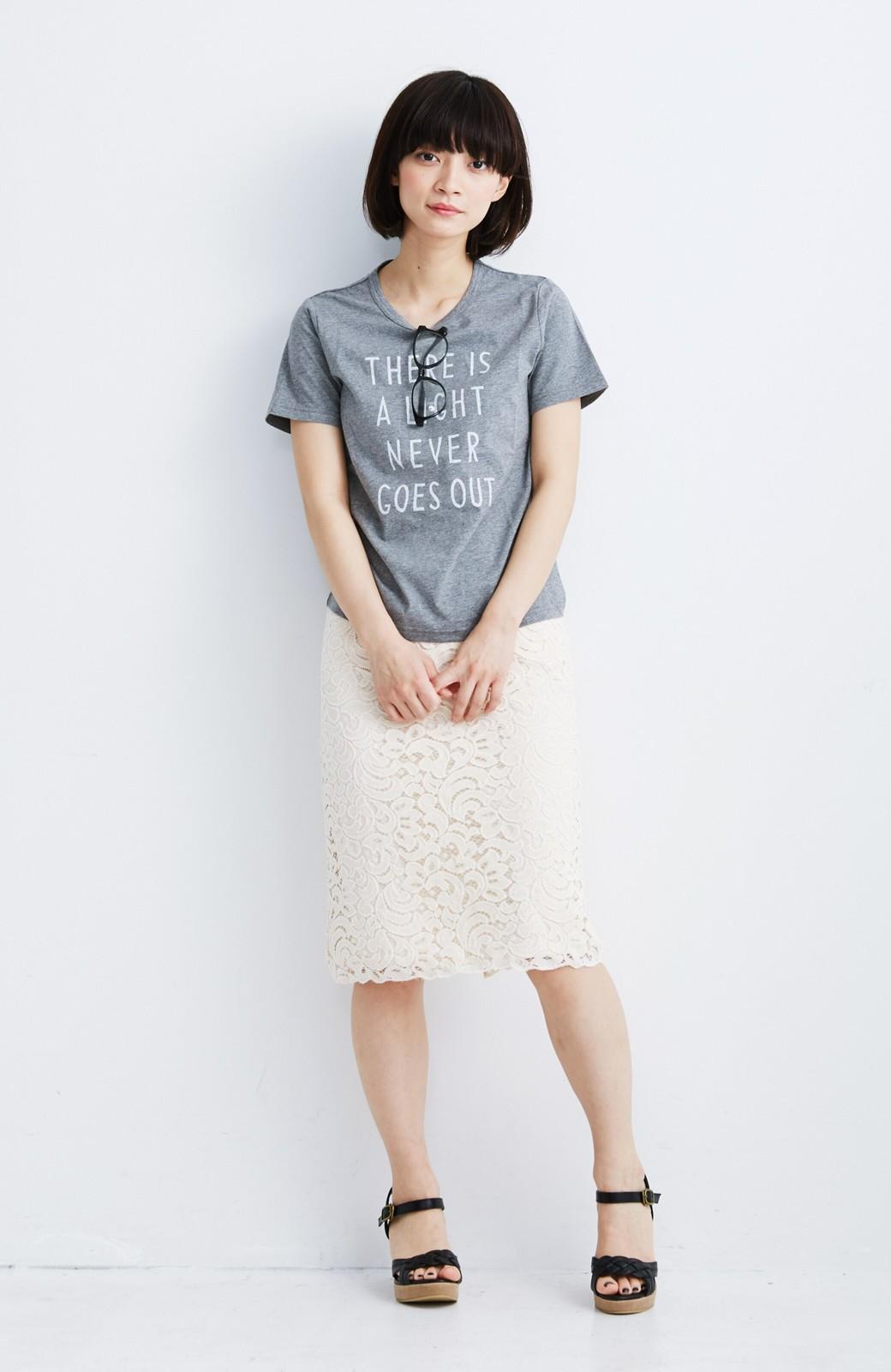 エムトロワ オトナレースのタイトスカート <アイボリー>の商品写真3