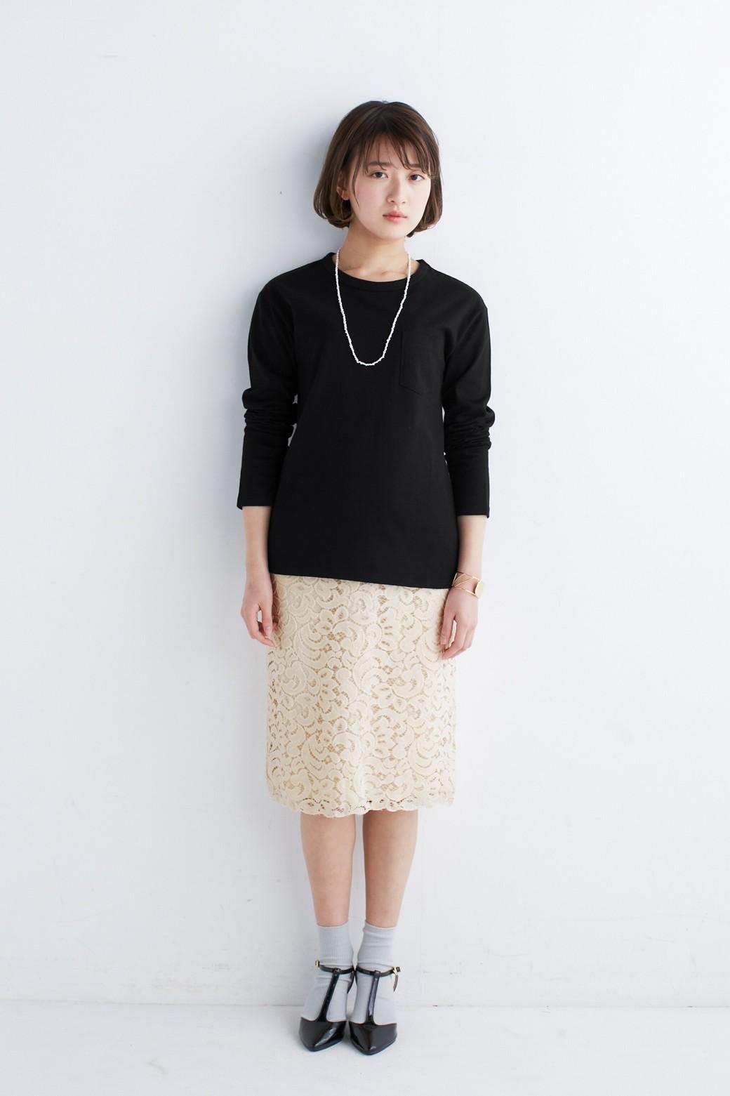 エムトロワ オトナレースのタイトスカート <アイボリー>の商品写真5
