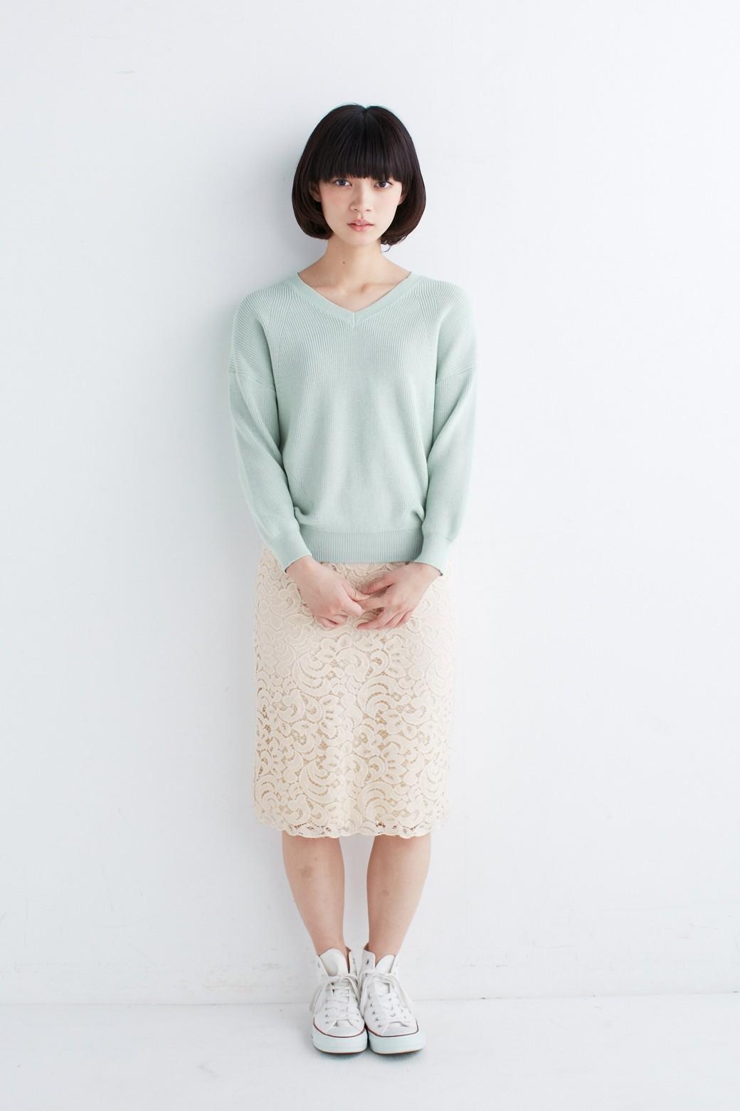 エムトロワ オトナレースのタイトスカート <アイボリー>の商品写真7