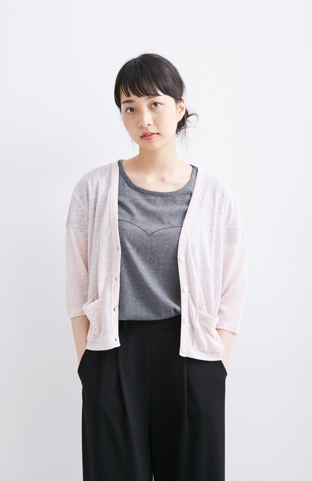 haco! haco.FACTORY カットソーカーディガン&Tシャツセット <ピンク>の商品写真3