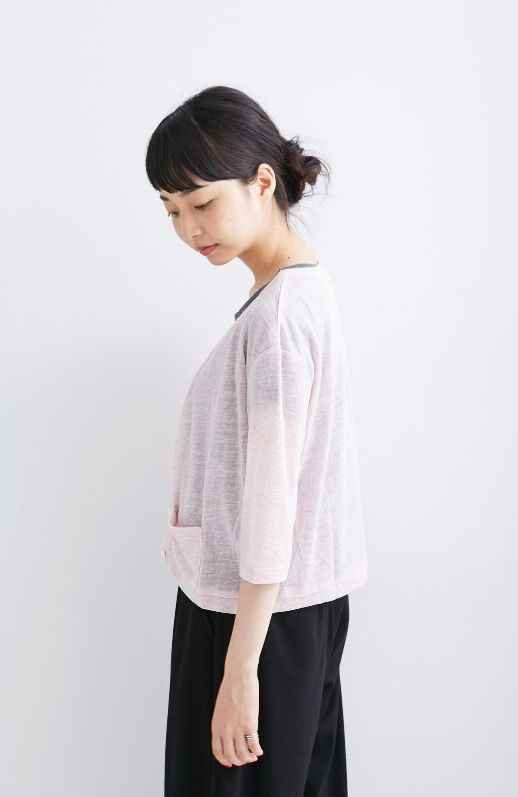 haco! haco.FACTORY カットソーカーディガン&Tシャツセット <ピンク>の商品写真4