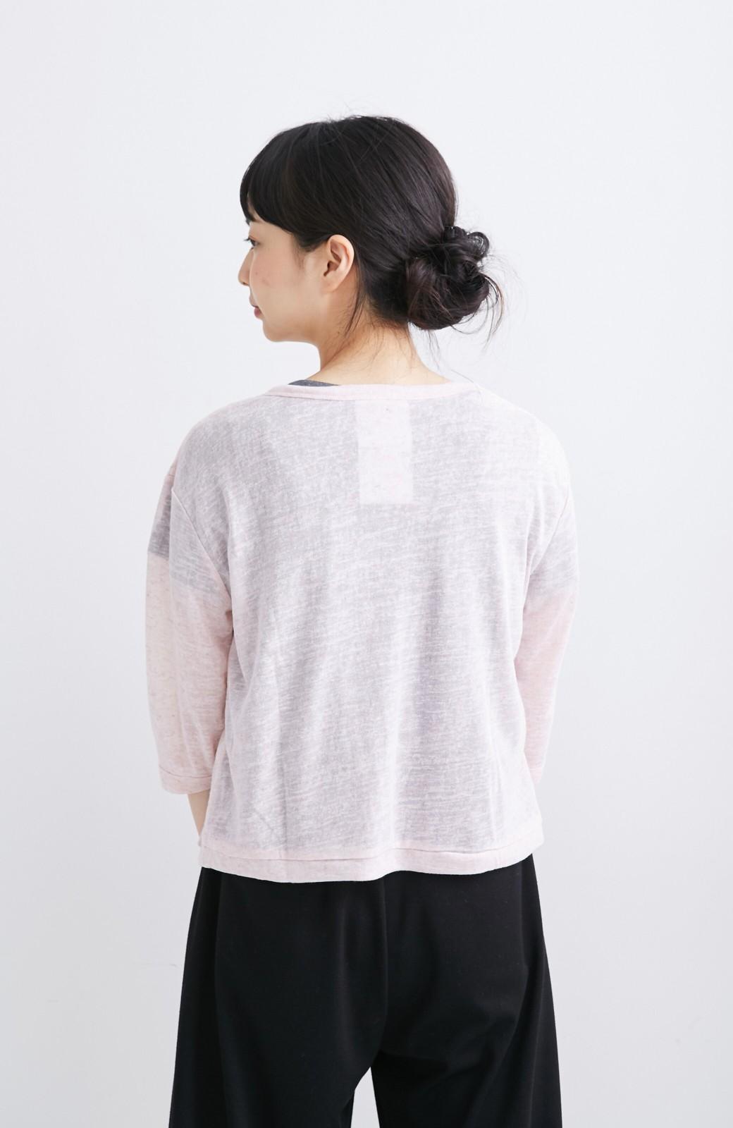 haco! haco.FACTORY カットソーカーディガン&Tシャツセット <ピンク>の商品写真5