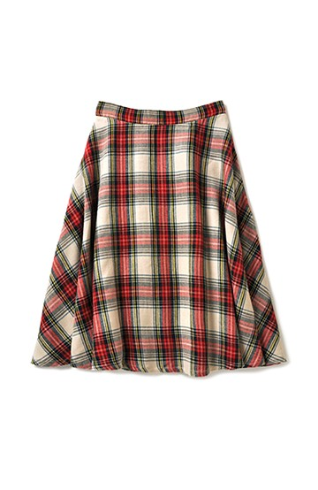 haco! haco.FACTORY スクールチェックフレアースカート <レッド系その他>の商品写真