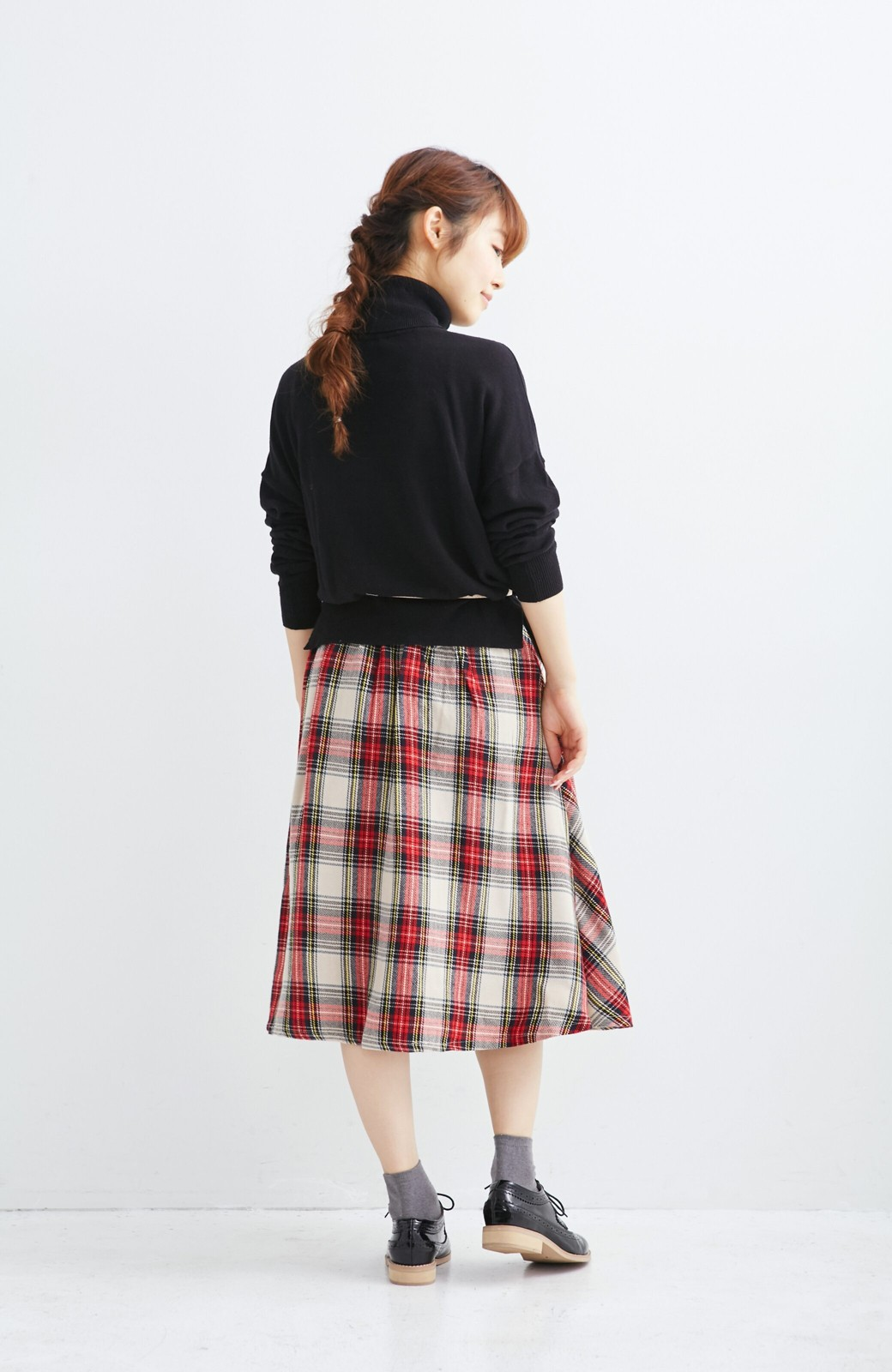 haco! haco.FACTORY スクールチェックフレアースカート <レッド系その他>の商品写真5
