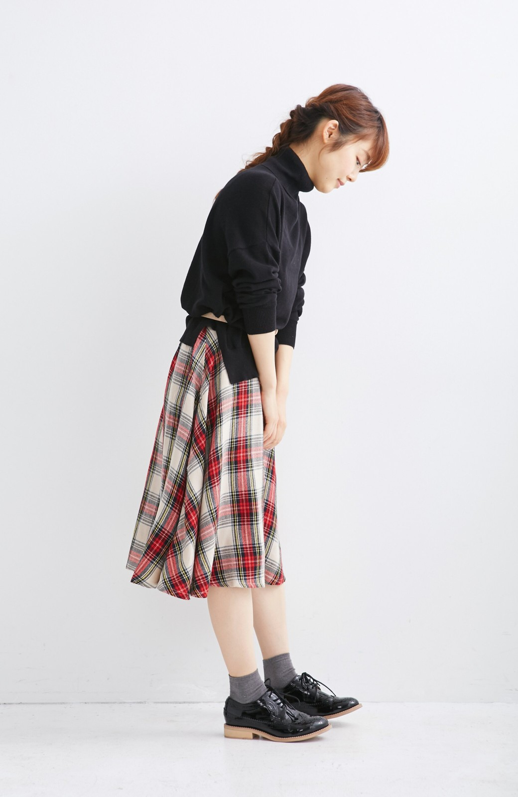 haco! haco.FACTORY スクールチェックフレアースカート <レッド系その他>の商品写真4